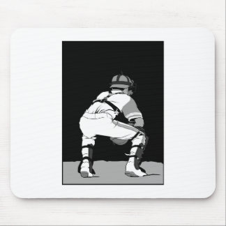 Black White Catcher Mouse Pads