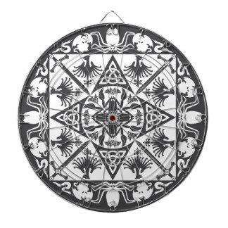 Black White Celtic Medieval Fantasy Dartboard
