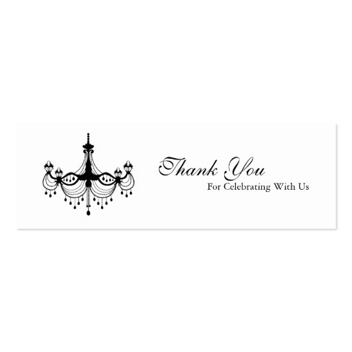 Collections of chandelier business card template business cards black white chandelier favour tag business card templates reheart Gallery