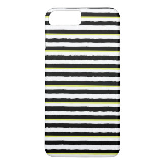 Black White Chartreuse Striped iPhone 7 PLUS Case