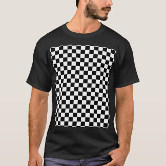 Black & White Checkerboard Background T-Shirt