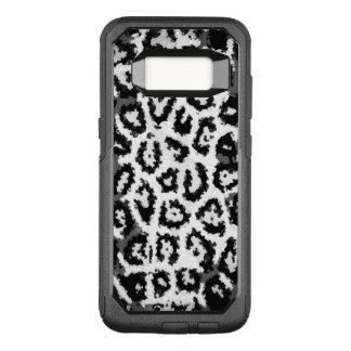 Black&White Cheetah Abstract Pattern OtterBox Commuter Samsung Galaxy S8 Case