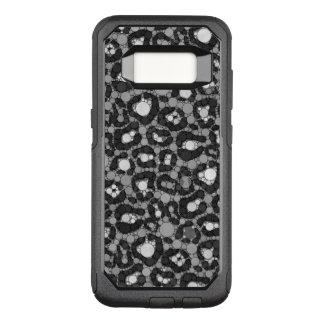 Black White Cheetah OtterBox Commuter Samsung Galaxy S8 Case
