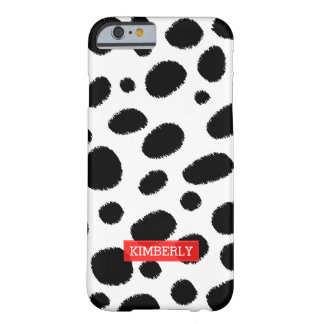 Black & White Cheetah Spots Pattern Animal Print Barely There iPhone 6 Case
