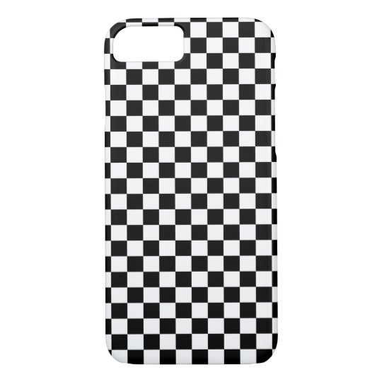 Black White Chequered Board iPhone 7 Case