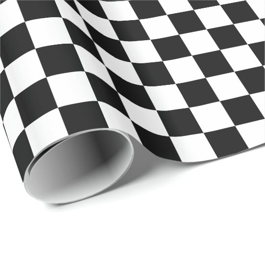 Black/White Chequered Wrapping Paper