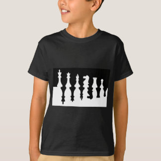 Black & White Chess Pieces T-Shirt