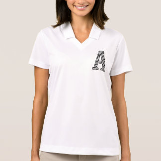 Black & White Chevron A Pocket Monogram Polo Shirt