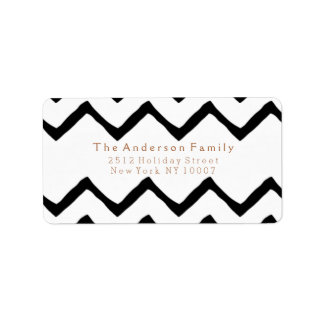 Black & white chevron address label
