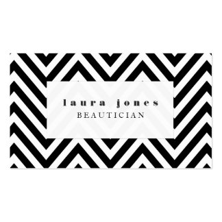 Black + White Chevron Fashion Stylist Template Pack Of Standard Business Cards