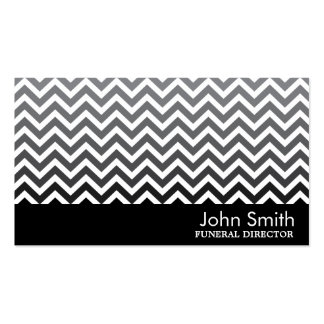 Black & White Chevron Funeral Business Card