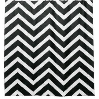 Black White Chevron Pattern Shower Curtains Zazzlecouk - Black and white chevron shower curtain