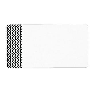 Black White Chevrons Label Shipping Label