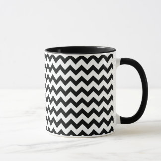 Black White Chevrons Mug