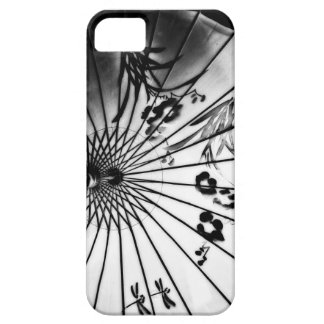Black & White Chinese Parasol Case For The iPhone 5