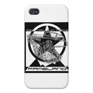 Black White Christmas Fantasy Rolls Royce iPhone 4 Cases