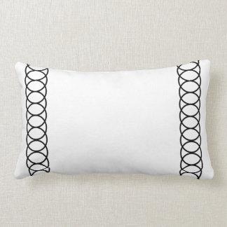 Black & White Circle Trellis Lumbar Cushion