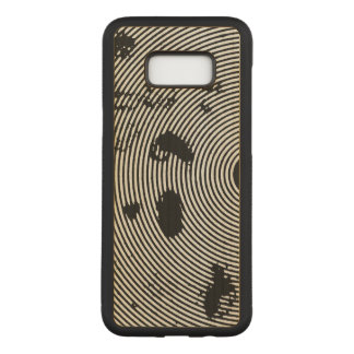 Black/White Circled Pattern Carved Samsung Galaxy S8+ Case