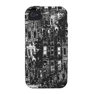 Black White City Building Window Collage Case For The iPhone 4