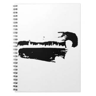 Black & White City Lookout - Notebook