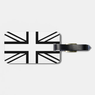 Black & White Classic Union Jack British(UK) Flag Luggage Tag