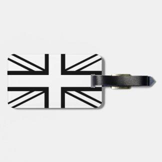 Black & White Classic Union Jack British(UK) Flag Luggage Tag
