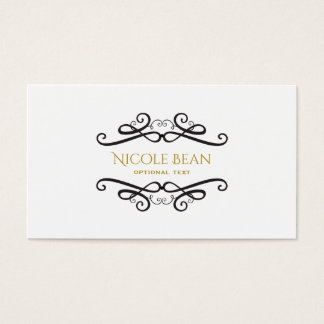 Black & White Classic Vintage Glamour Chic Business Card