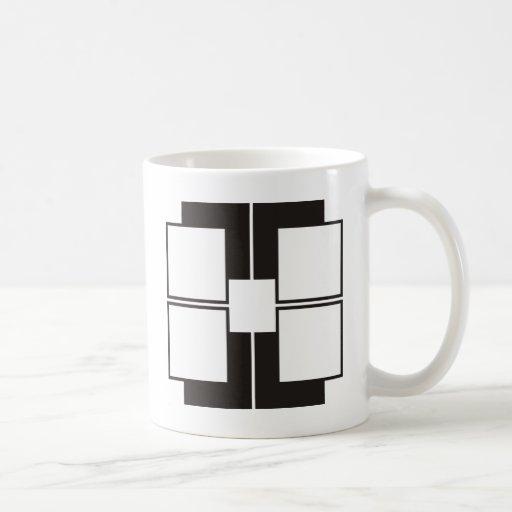 black white classic white coffee mug