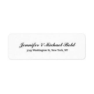 Black White Classical Creative Brush Script Family Return Address Label