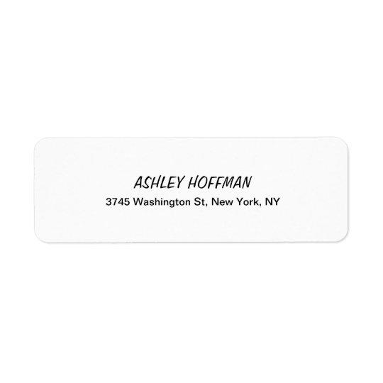 Black & White Classical Handwriting Legible Return Address Label