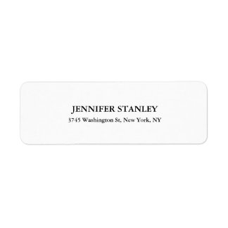 Black & White Classical Look Professional Personal Return Address Label