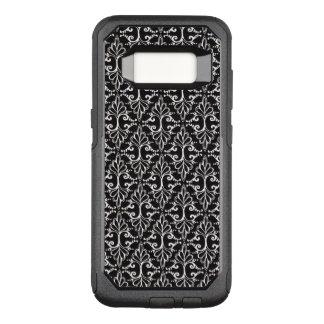 Black White Classy Scrolled Damask Pattern OtterBox Commuter Samsung Galaxy S8 Case