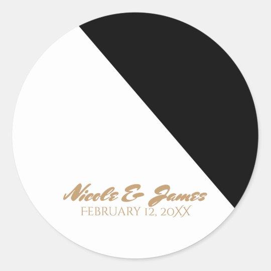 Black & White Classy Triangle Wedding Custom Classic