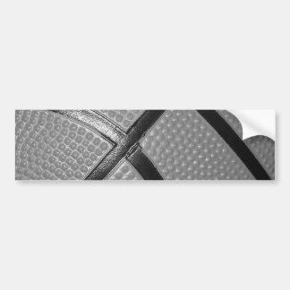 Black & White Close-Up Basketball Bumper Sticker
