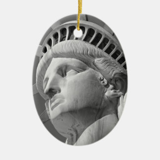 Black White Close-up Statue of Liberty Christmas Ornament