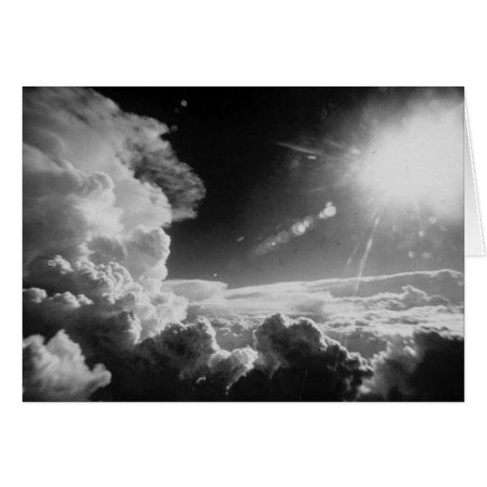 Black & White clouds Card