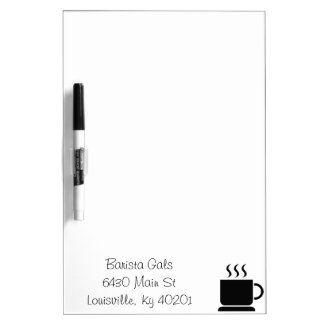 Black White Coffee Lover Personalized Gift Dry Erase Board