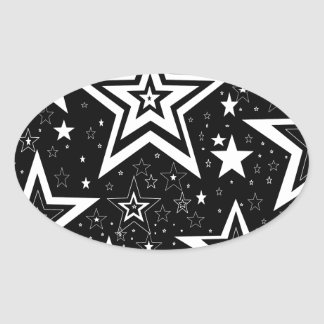 BLACK & WHITE COLLECTION OVAL STICKER