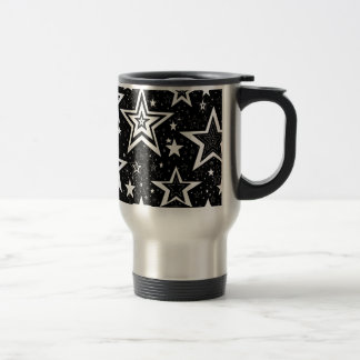 BLACK & WHITE COLLECTION STAINLESS STEEL TRAVEL MUG