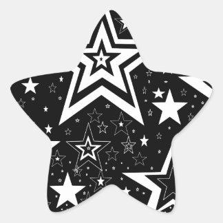 BLACK & WHITE COLLECTION STAR STICKER
