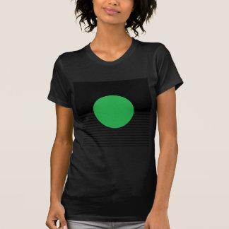 Black White Colorblock & Green Circle Tshirt