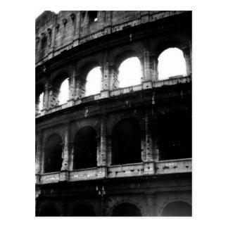 Black White Colosseum Roman Empire Postcard