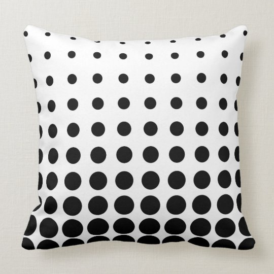 Black & White Colourful Vector abstract dot Cushion