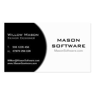 Black & White Corporate Technology Business Card