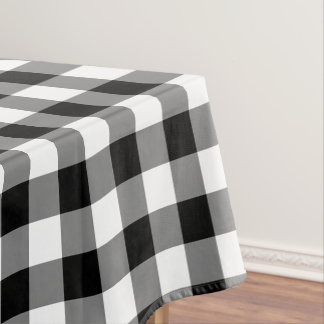 Black white Country check home decor tablecloth