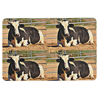 Black/White Cow Floor Mat