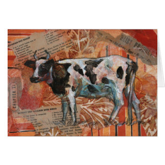 Black & White Cow Greeting Card