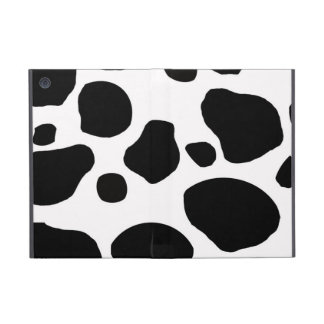 BLACK WHITE COW SPOTS ANIMAL PRINT COVER FOR iPad MINI