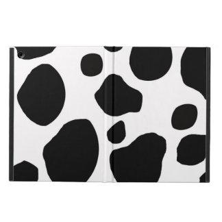 BLACK WHITE COW SPOTS ANIMAL PRINT iPad AIR COVER