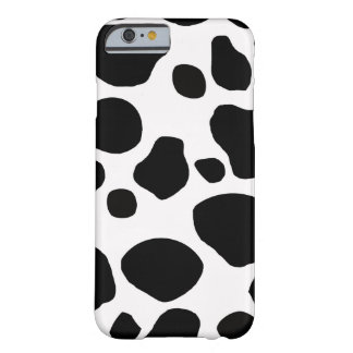 Black White Cow Spots Barely There iPhone 6 Case